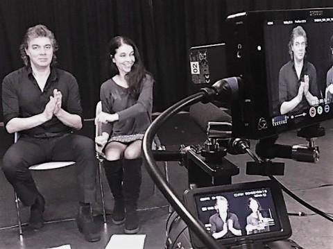 Catarina Mora und Miguel Angel vor der Kamera